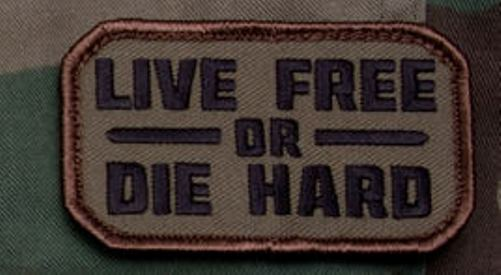Mil-Spec Monkey Live Free or Die Hard Mil-Spec Monkey Morale Patch - WOODLAND CAMO at Sears.com